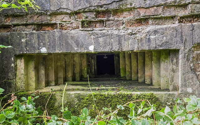 WWII Cheshire, RAF Cranage, near Middlewich - pillbox (2)