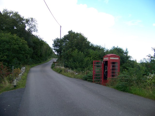 Phone box at Cour