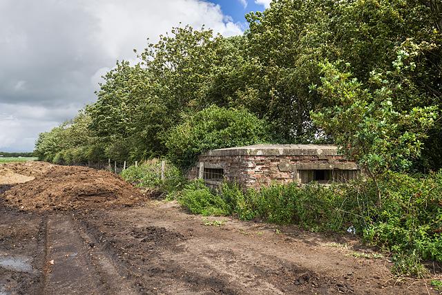 WWII Cheshire, RAF Cranage, near Middlewich - pillbox (3)