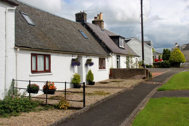 Cottages on the A71 at Priestland