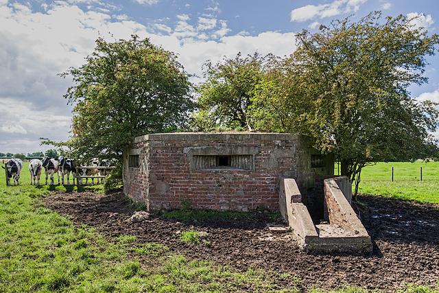 WWII Cheshire, RAF Cranage, near Middlewich - pillbox (10)