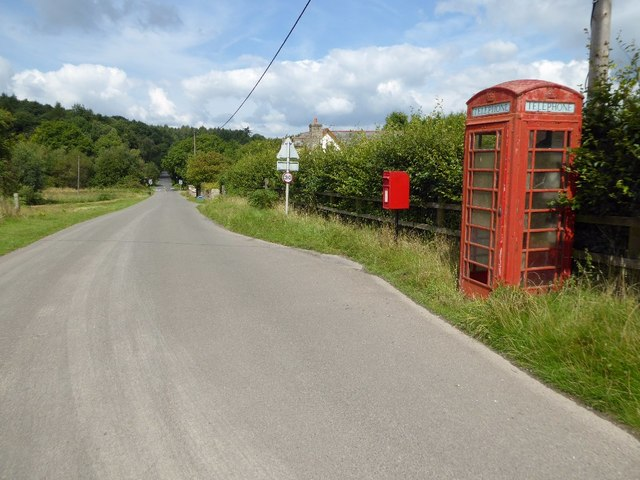 Telephone box at Ellwood