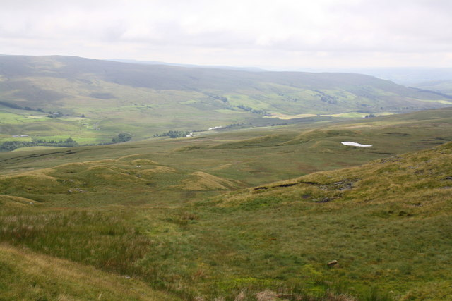 View from Swarth Fell over Aisgill Moor towards Settle-Carlisle Railway