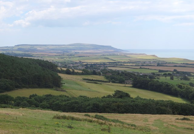 View across Brighstone and West Wight