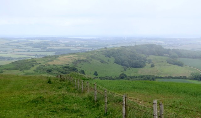 View over St Catherine's Down, Isle of Wight