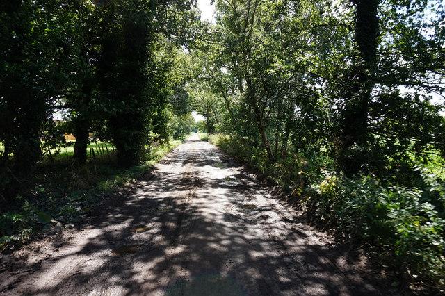 Lane leading to Moor Lane