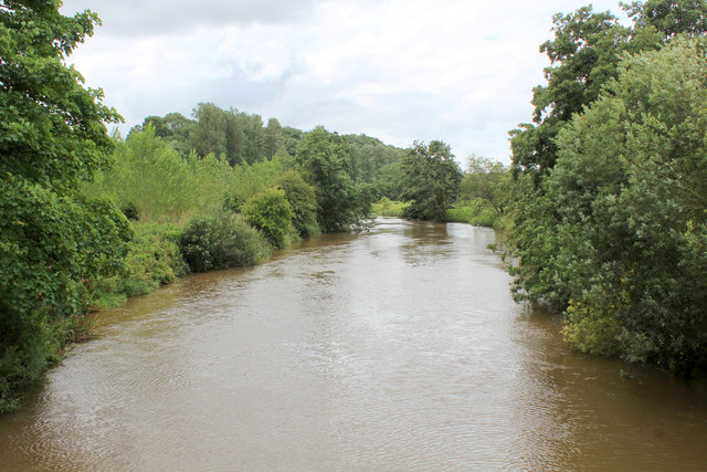 River Derwent from the Suspension Bridge at Low Hutton