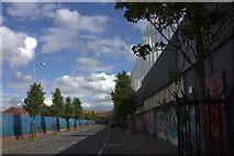 J3274 : Cupar Way peace line wall, Belfast by Robert Eva