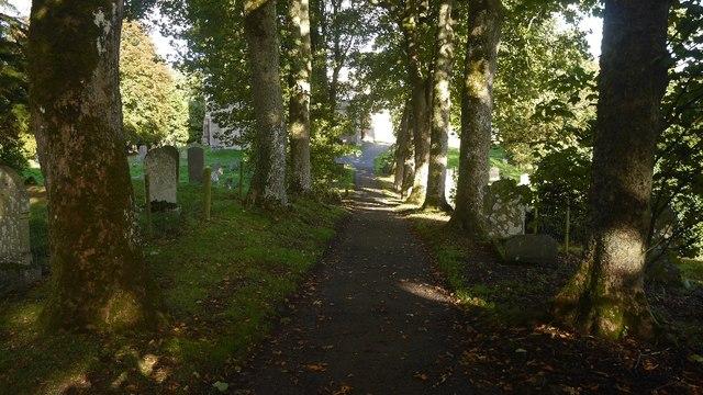 Path to St Andrew's Church, Aysgarth