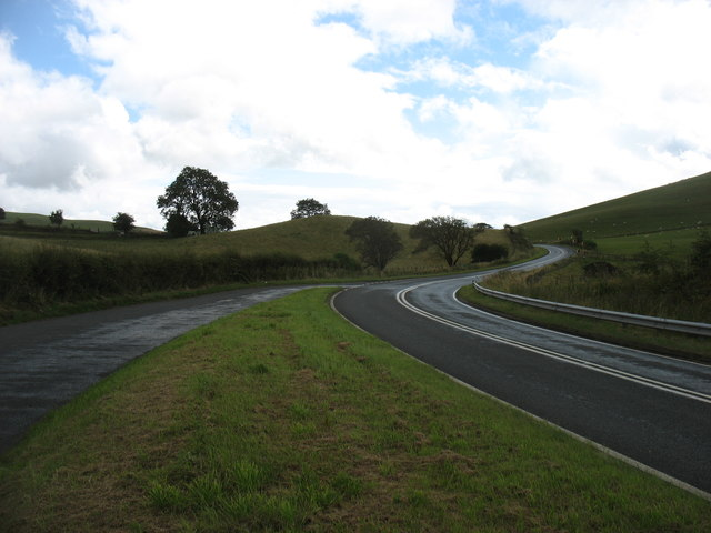 The A44 heading for New Radnor