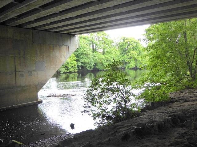 Underneath the motorway bridge