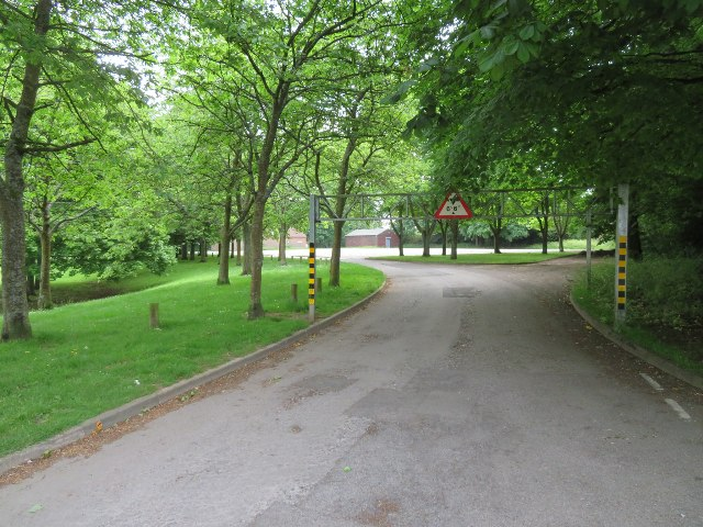 Car park by tennis courts