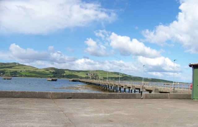 The pier at Campbeltown Loch