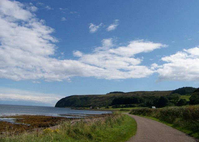 Unclassified road around East side of Mull of Kintyre
