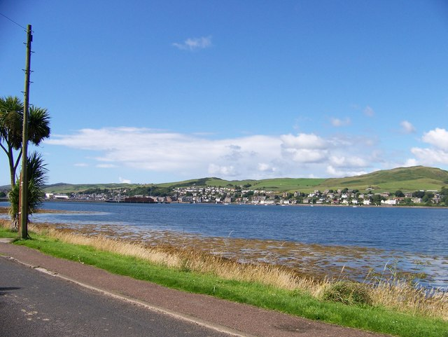 Unclassified road entering Campbeltown from the east