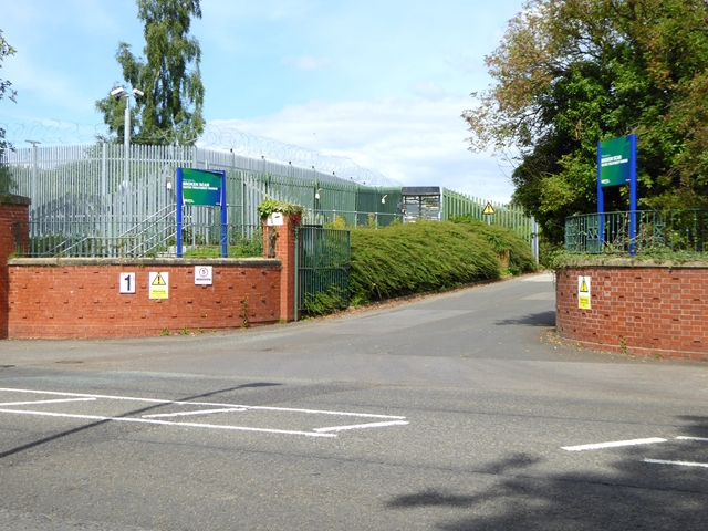 Entrance to Broken Scar Water Treatment Works