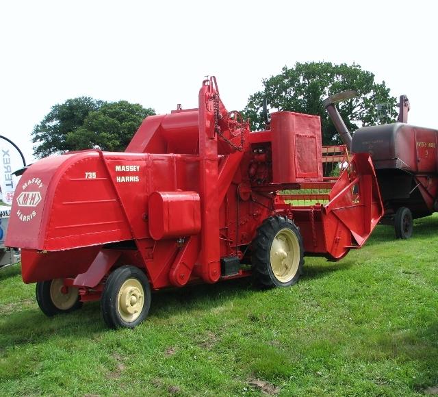 1950s Massey-Harris 735 combine harvester