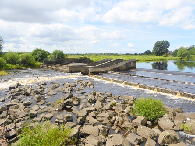 Weir on the River Tees at Low Coniscliffe
