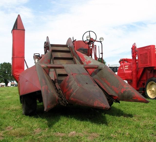 Vintage Massey Ferguson combine harvester