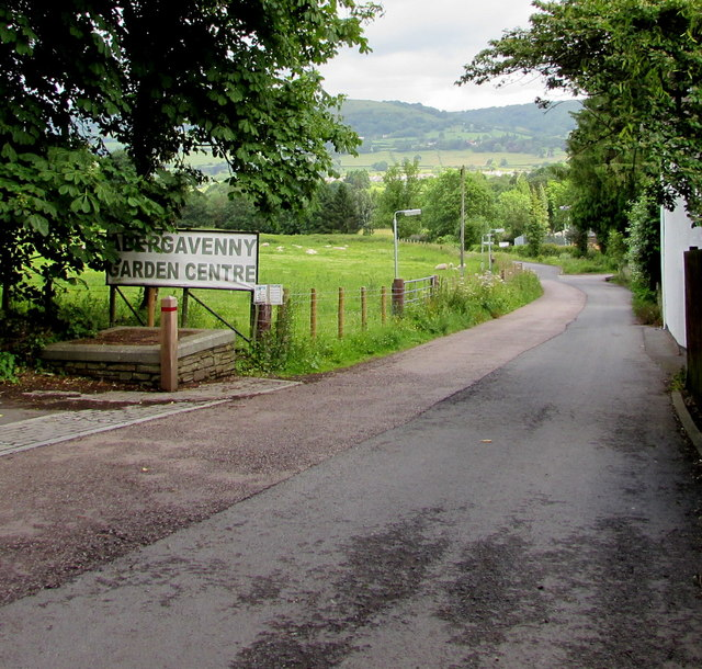 Abergavenny Garden Centre name sign, Church Lane, Llanfoist