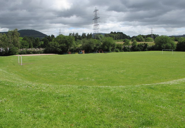 Recreation area near Llanfoist Village Hall