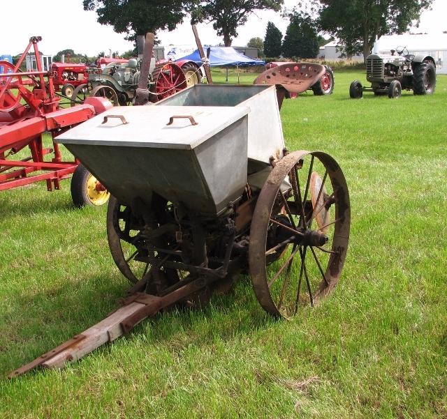 Vintage horse-drawn potato planter