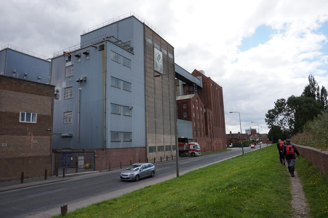 Rank Hovis Mill on Barlby Road, Selby