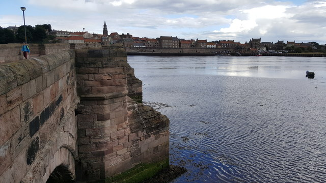 Berwick Bridge and the River Tweed