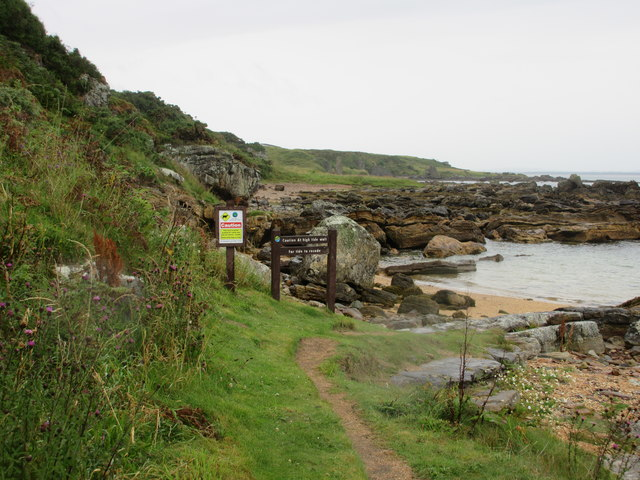 Coastal Path warning sign