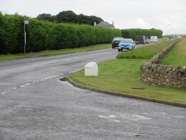 Milestone at the Castle Course entrance
