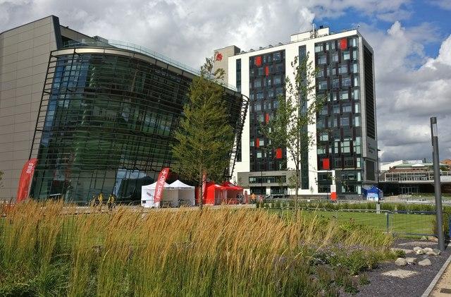De Montfort University campus in Leicester