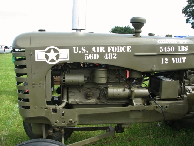 1956 Massey-Harris I-244G USAF tractor - detail