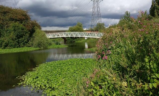 Footbridge 108C across the River Biam