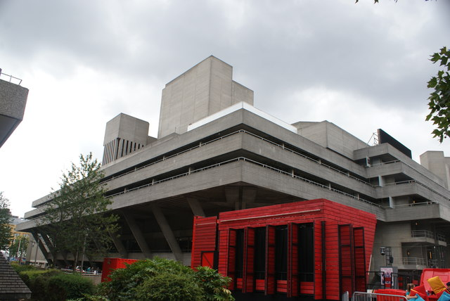View of the Royal National Theatre from the South Bank