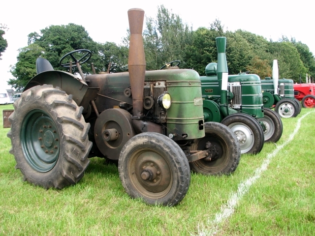 Vintage Field-Marshall tractors on display
