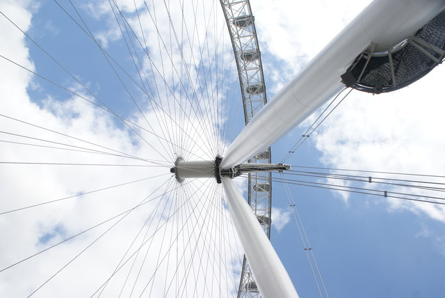 Looking up at the London Eye from the South Bank #2