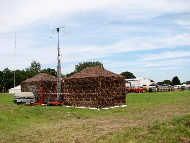 Commentators' tents