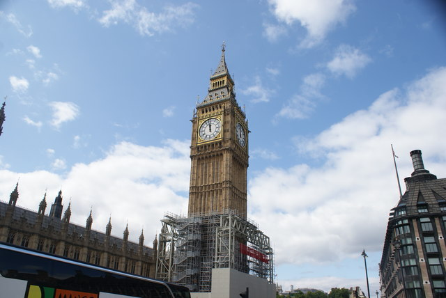 View of St. George's Clock Tower from Westminster Bridge #2