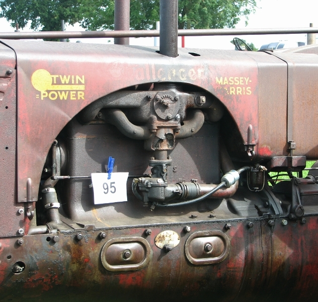 "Massey-Harris ""Twin Power"" Challenger tractor - detail"