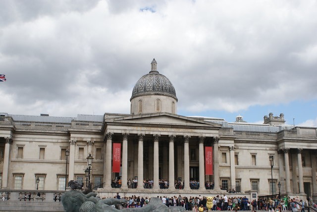 View of the National Gallery from Trafalgar Square #2