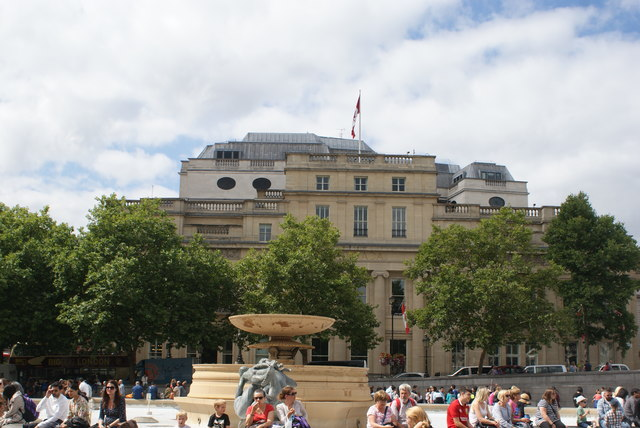 View of Canada House from Trafalgar Square