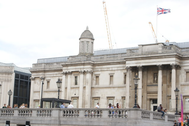 View of the National Gallery from Trafalgar Square #3