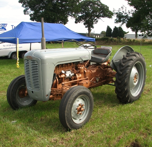 A modified grey Fergie tractor