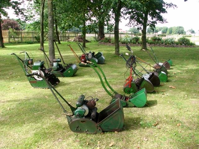 Vintage lawnmowers
