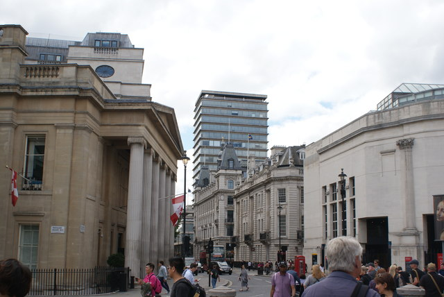 View of New Zealand House from Trafalgar Square