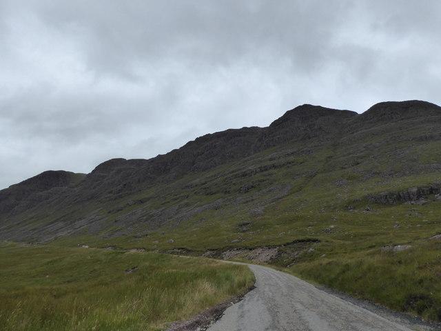 Climbing towards Coire na Bà