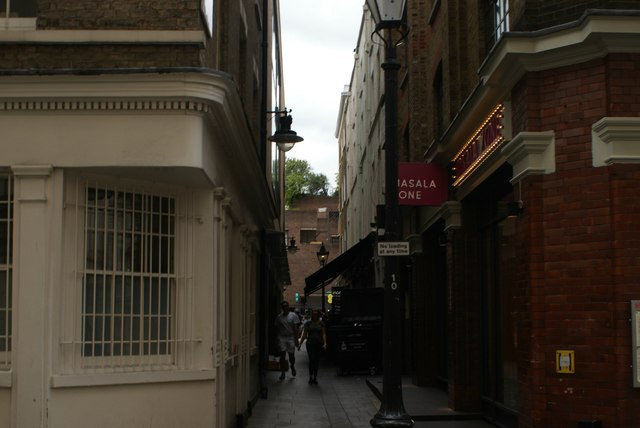 View up Hanover Place from Floral Street