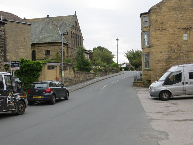 The north-western end of Main Street in Menston