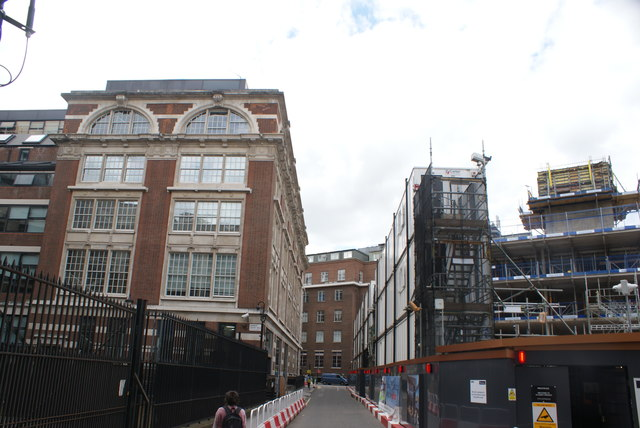 View up Carey Street