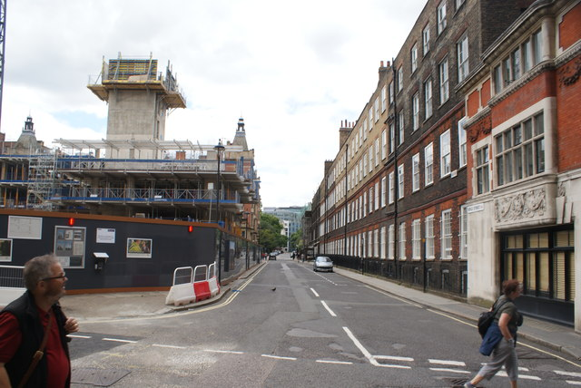 View up Serle Street from Carey Street